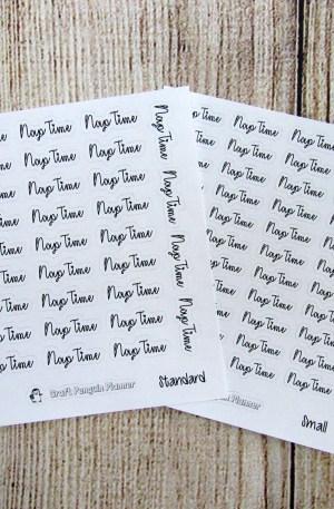 Nap Time Script Stickers