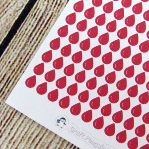 Tiny Blood drop stickers