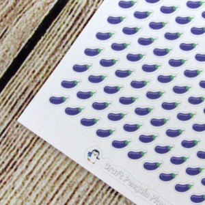 Tiny Eggplant Stickers