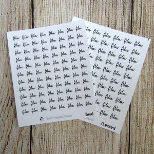 Film Script Stickers