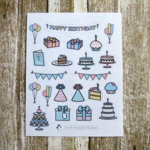 Birthday Deco stickers