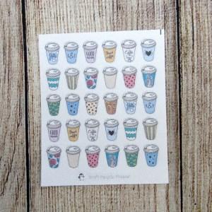 Coffee to go Mug Stickers