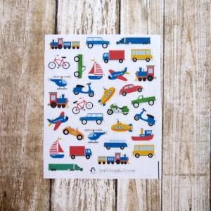 Transportation deco stickers