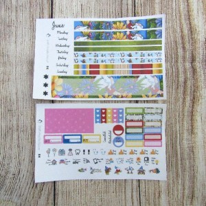 Gnomes Monthly Sticker Set, Choose your month, B6