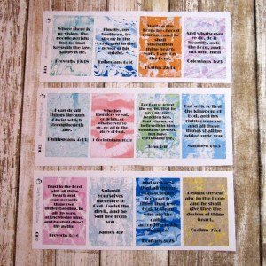 Bible Verse Full Box stickers, CLASSIC HAPPY PLANNER