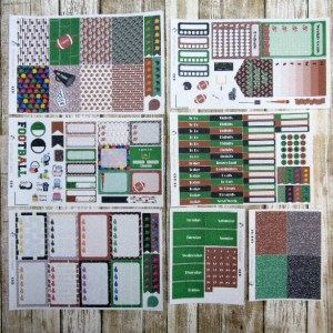 Football Game Day Weekly, CLASSIC HAPPY PLANNER