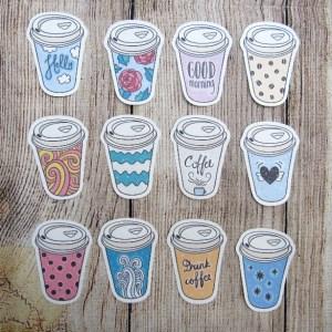 Coffee to go Mug Die cuts