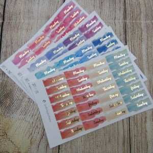 Foiled Date Covers