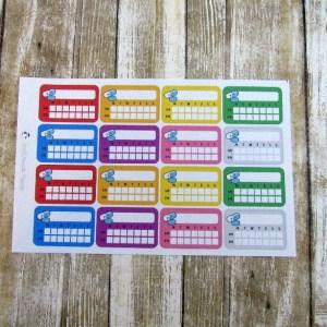 Weekly Pill Reminder Sticker