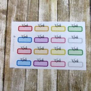 Work Script Box Sticker