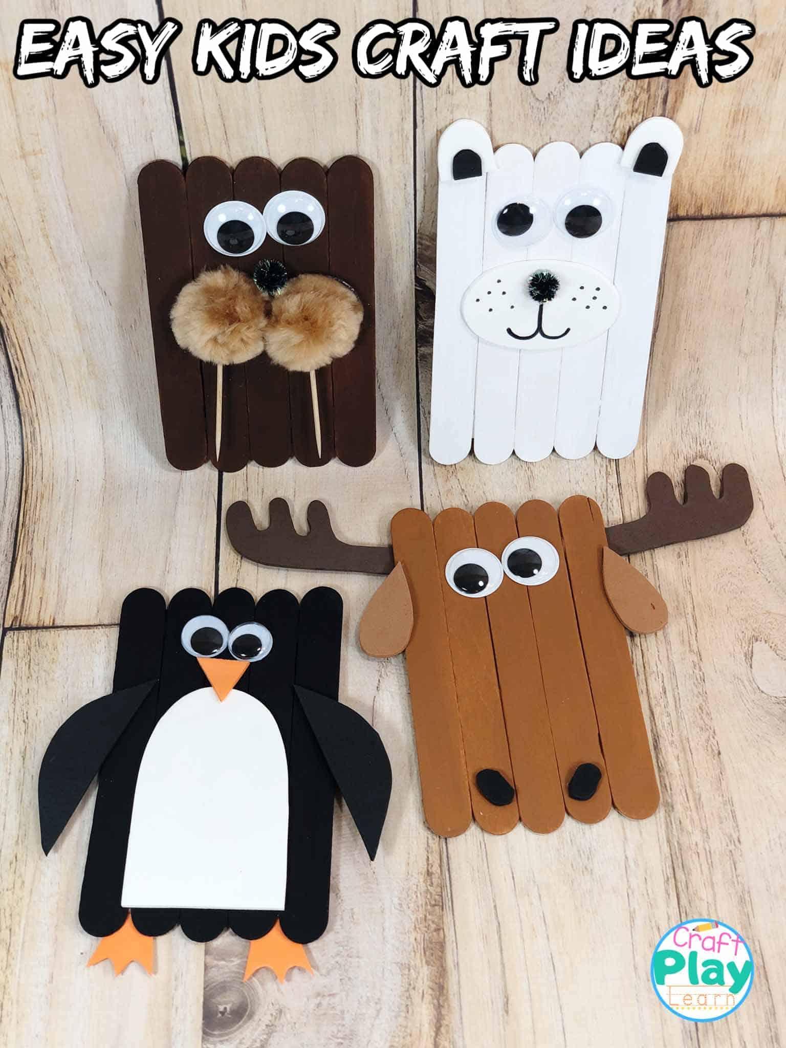 Moose Craft Preschool : moose, craft, preschool, Arctic, Animals, Penguin,, Polar, Bear,, Walrus, Moose, Craft, Learn