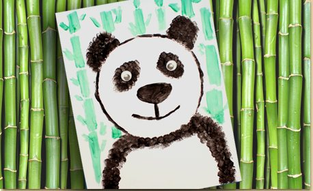 Panda Art With Texture Techniques Craft Project Ideas