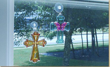 Cross Suncatchers Craft Project Ideas