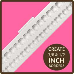 rimmed pearl border