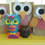 3 Designs Of Cute Crafts Using Paper Bags Owl Gift Bags Fun Family Crafts