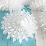 3 Easy Designs Of Crafts Out Otissue Paper 35cm14 Snowflake Paper Fans Wedding Paper Flowers Tissue Paper