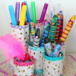 3 Easy Designs Of Crafts Out Otissue Paper Diy Pen Organizer Easy Affordable With Recycled Materials