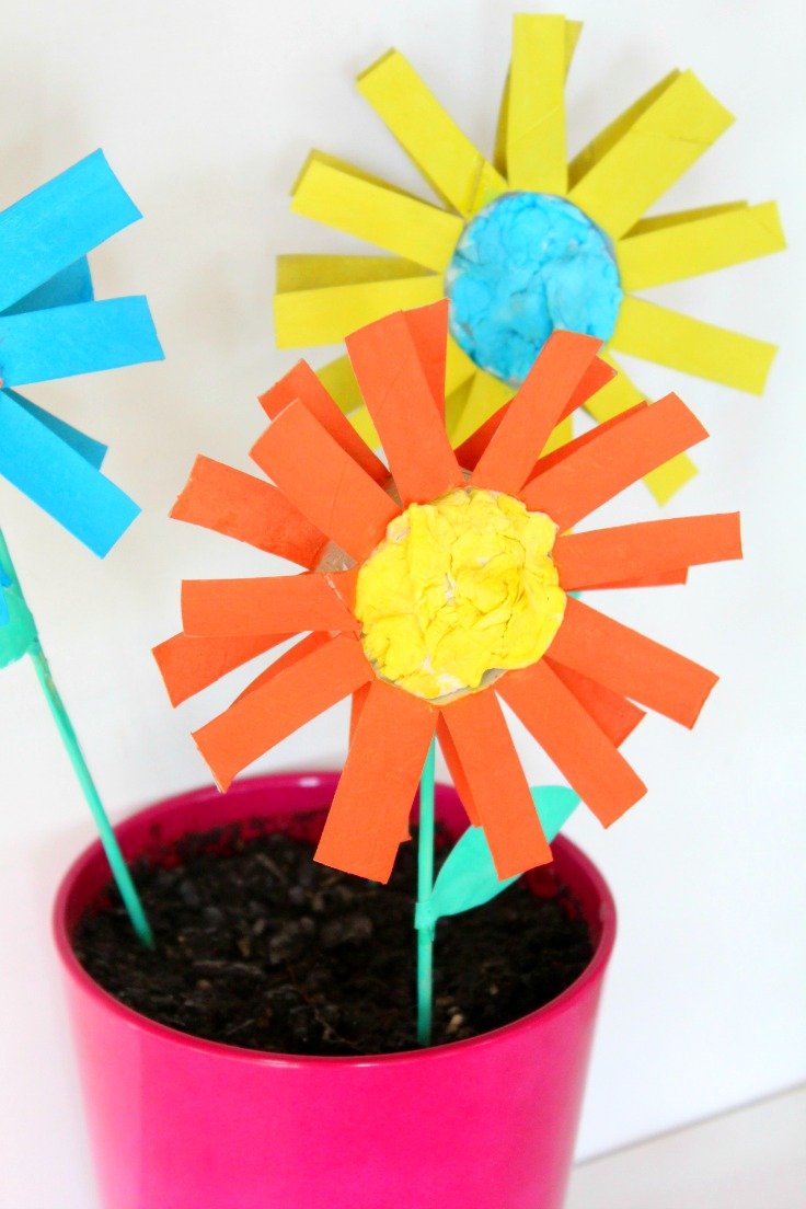3 Easy Designs of Crafts Out Otissue Paper How To Make Paper Flowers For Kids With Toilet Paper Rolls
