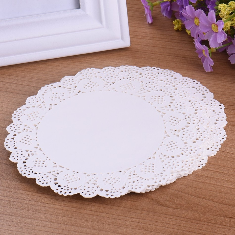 3 Pretty Designs of Craft Paper Doilies 70 Pcs White Round Lace Paper Doilies Vintage Coasters Placemat