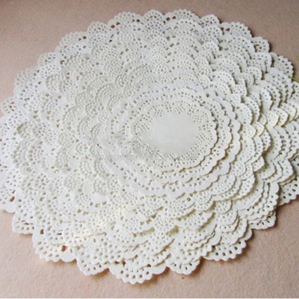 3 Pretty Designs of Craft Paper Doilies 80pcslot Cute Round Lace Paper Doilies Craft Cake Placemat Wedding