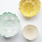 3 Pretty Designs Of Craft Paper Doilies Diy Room Decor Lace Doily Bowls Apartment Therapy