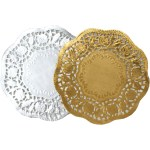 3 Pretty Designs Of Craft Paper Doilies Gold And Silver Craft Doilies 10 Pack Hobcraft