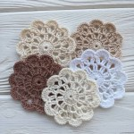 3 Pretty Designs Of Craft Paper Doilies Small Crochet Flowers 5pcs Scrap Doily Craft Doily Etsy