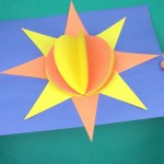 3D Paper Crafts For Kids 3d Paper Sun Construction Paper Crafts For Kids Youtube