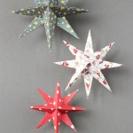 3D Paper Crafts For Kids Diy 3d Paper Star Christmas Decorations Gathering Beauty