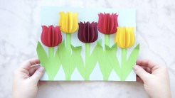 3D Paper Crafts For Kids Gorgeous 3d Paper Tulip Flower Craft Youtube