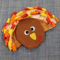 Angry Bird Paper Plate Craft Curly Turkey Kid Craft Fall Kid Craft Paper Plate Craft