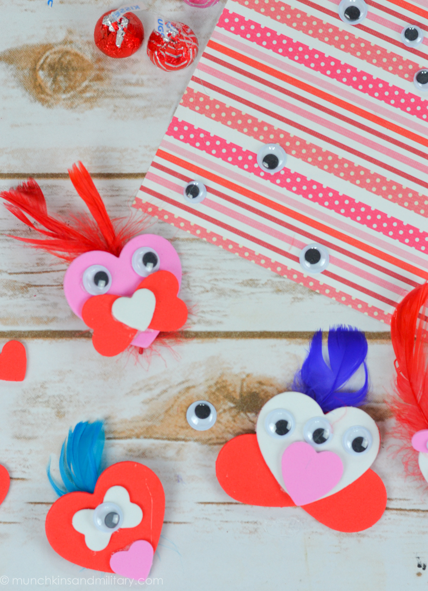 Awesome valentine construction paper crafts Diy Valentines Treat Craft Three Little Ferns Family Lifestyle Blog