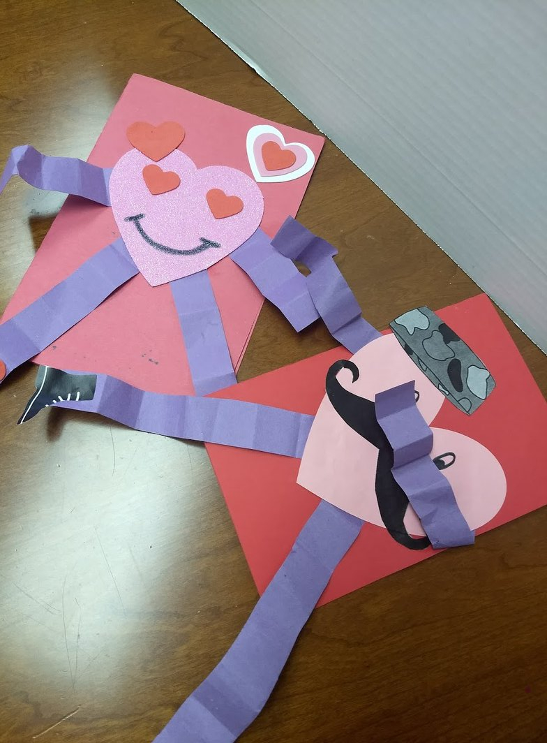Awesome valentine construction paper crafts Soldiers Angels Craft Your Heart Out For This Years Valentines