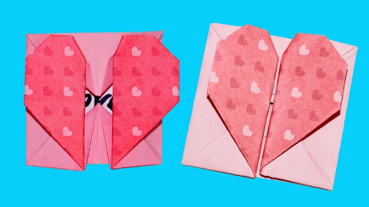 Awesome valentine construction paper crafts Valentine Paper Craft Diy Paper Crafts Origami Heart Box Envelope