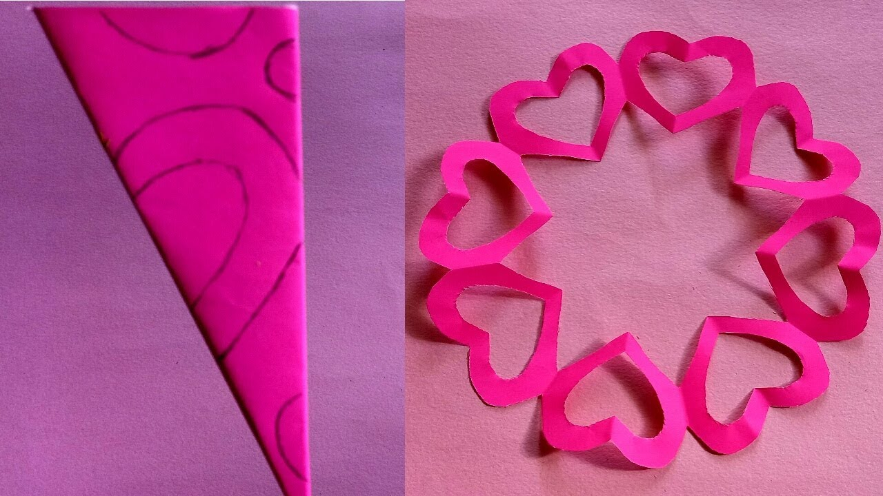 Awesome valentine construction paper crafts Valentine Special Paper Crafts Best Craft Idea 2019 Youtube