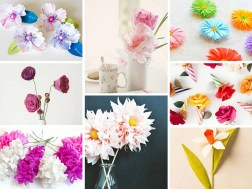 Cool Crafts To Make With Paper 17 Stunning How To Make Paper Flowers Tutorials Sad To Happy Project