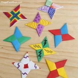 Cool Crafts To Make With Paper How To Fold Paper Ninja Stars Frugal Fun For Boys And Girls