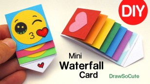 Cool Crafts To Make With Paper How To Make A Mini Waterfall Card Diy Fun Easy Craft Youtube