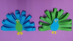 Cool Crafts To Make With Paper How To Make Peacock With Color Paper Diy Paper Peacocks Making