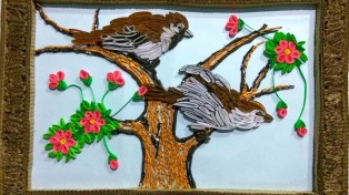 Craft From Waste Material Paper How To Make Beautiful Wall Craft With Waste Paper All Art Craft