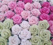 Craft Paper Flowers Roses 25 Paper Flower Roses Scrapbook Card Making Home Decor Craft Etsy