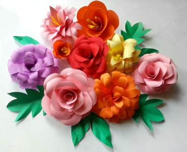 Craft Paper Flowers Roses Diy Paper Flowers Folding Tricks 5 Steps With Pictures