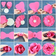 Craft Paper Flowers Roses Giant Paper Flowers How To Make Paper Garden Roses With Step Step