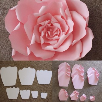 Craft Paper Flowers Roses Here Are The Templates That Are Used To Make A Beautiful Large