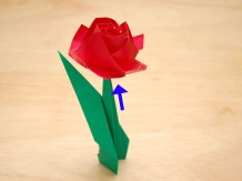 Craft Paper Flowers Roses How To Fold A Paper Rose With Pictures Wikihow