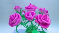 Craft Paper Flowers Roses How To Make Rose Paper Flower From Crepe Paper Craft Tutorial Diy