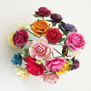 Craft Paper Flowers Roses Paper Flowers Rose Paper Flower Small Size 12 Mm 15 Mm 20 Mm