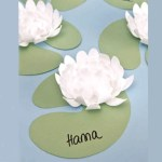 Crafts With Paper For Adults 5 Diecut Water Lillies For Adults Craft White Paper Flower