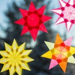 Crafts With Paper For Adults Brighten Winter Windows Crafting Colorful Paper Stars
