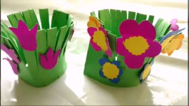 Crafts With Paper For Kids Easy Paper Craft Flower Garden Making For Kids Paper Craft Diy